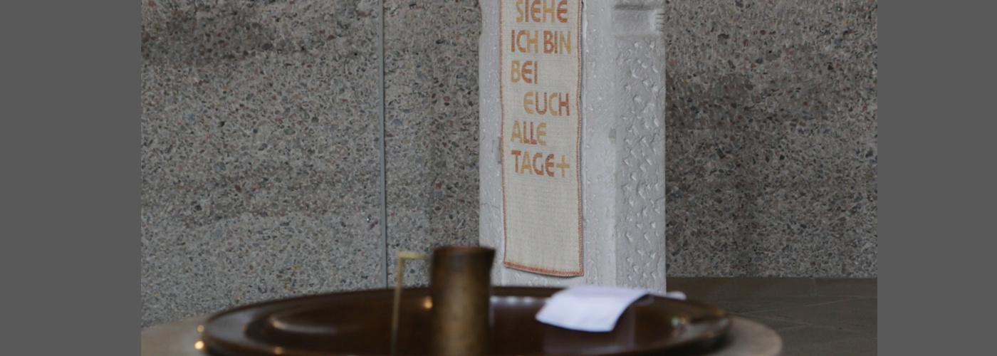 Taufstein Kirche St. Michael